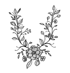 Hand drawn floral frame vector