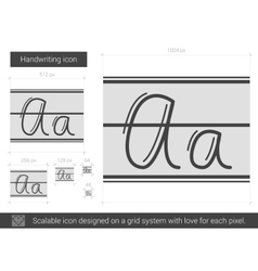 Handwriting line icon vector
