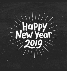 Happy new year 2019 typography vector