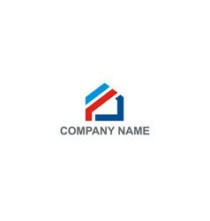 Home shape construction company logo vector