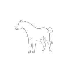 Horse icon winner animal vector