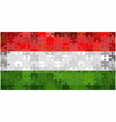 Hungary flag made of puzzle background vector