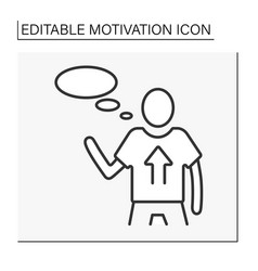 Incentive motivation line icon vector