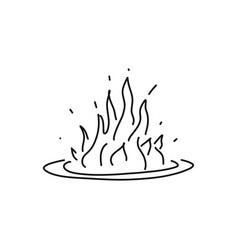 Informative flyer fire sketch hand drawn flame vector