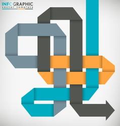 Interlaced Ribbon vector image