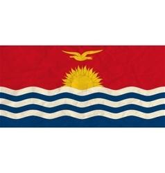 Kiribati paper flag vector image
