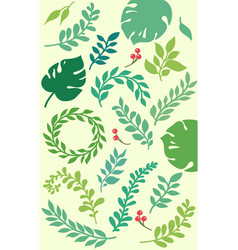 Leaves elements vector
