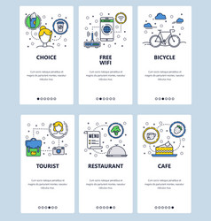 line art web and mobile app template set vector image
