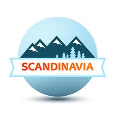 logo with scandinavian landscape vector image