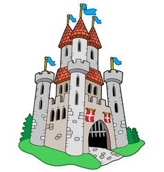 medieval castle vector image