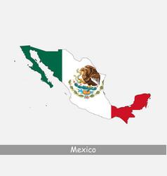 Mexico map flag vector