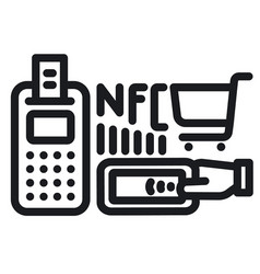 nfc technology icon vector image