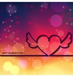 Outline Valentines day 1 vector image