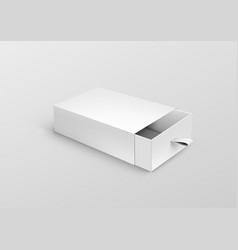 package cardboard ribbon pull and slide drawer box vector image