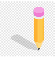 pencil isometric icon vector image