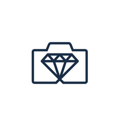 photography diamond logo icon design vector image
