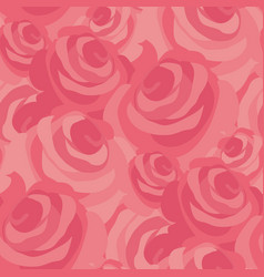 Pink messy rose flower seamless pattern vector