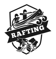 Rafting logo simple style vector