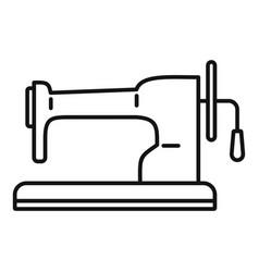 Retro sew machine icon outline style vector
