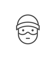 robber line icon vector image