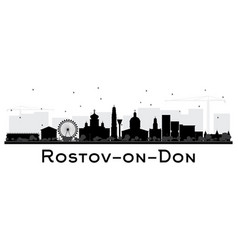 Rostov-on-don russia city skyline silhouette vector