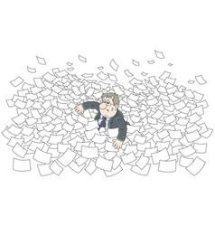Sea of paper vector
