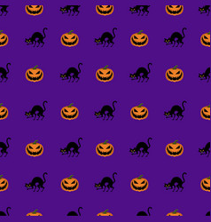 seamless halloween background pattern vector image