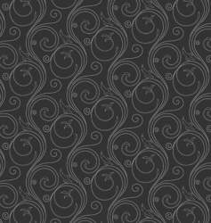 seamless wallpaper from curled lines vector image