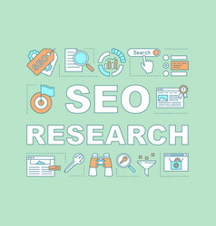 Seo research word concepts banner vector