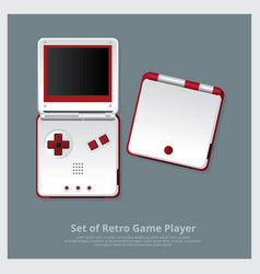 Set of retro game player and accessories vector