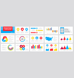 Set purple red blue and yellow elements for vector