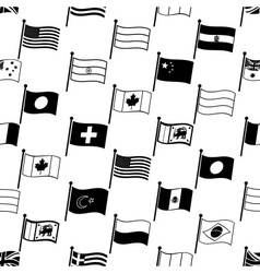 simple curved flags of different country seamless vector image