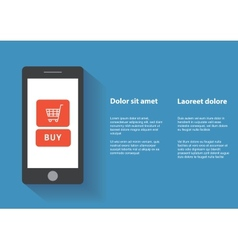 Smart phone with buy button on the screen vector