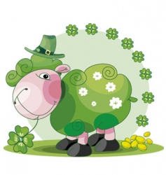 St Patrick's sheep vector