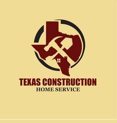 texas construction logo designs simple modern vector image
