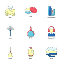 Wipe icons set flat style vector