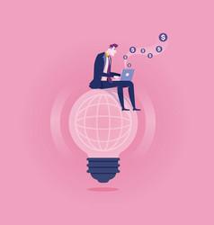working online - business concept vector image
