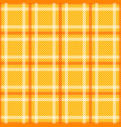 yellow orange tartan with white stripes seamless vector image