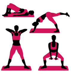 Young woman doing exercises for firm buttocks vector