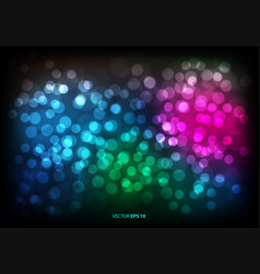 abstract color bokeh blur light background vector image