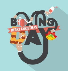 Boxing Day Typography Design vector image vector image