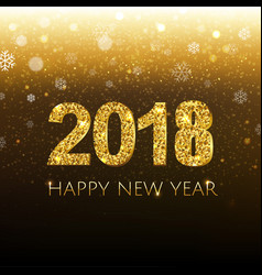 golden new year banner with snow vector image vector image