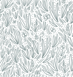 Grey field seamless pattern vector image