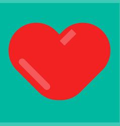 minimal red heart emblem vector image vector image