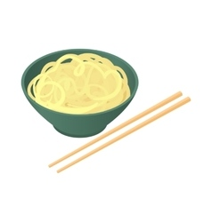 Noodles with chopsticks icon cartoon style vector image