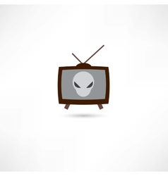 science fiction on tv vector image