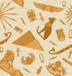 Seamless egypt pattern vector