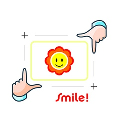 Smile and shot vector image vector image