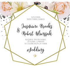 wedding invitation invite card design with pink vector image
