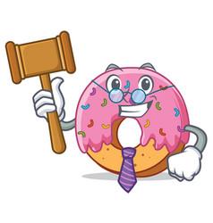 Judge donut mascot cartoon style vector